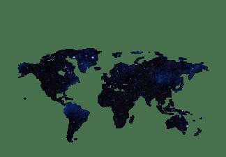 世界地图剪影