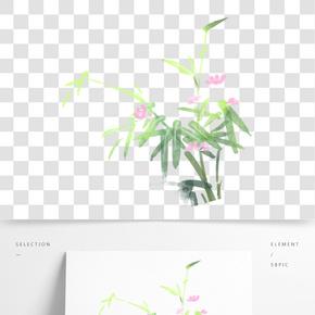 彩色植物花朵葉子元素