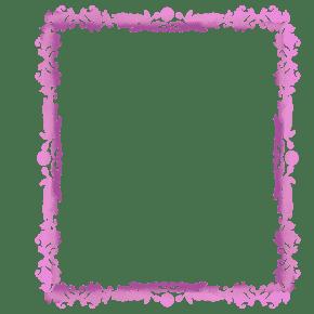 粉色复式图案