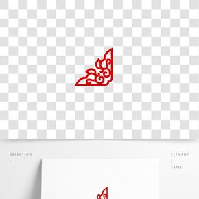 紅色的花紋圖案免摳圖
