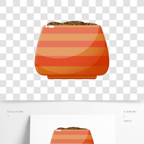 棕色盛器器皿