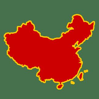 红色中国地图装饰