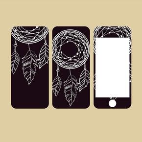 手机盖子和屏幕,样式传染媒介例证模板电话盒的