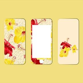 手机后盖和屏幕图案水彩颜料。