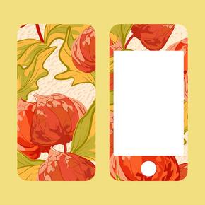 手机后盖和屏幕,海角醋栗或酸浆