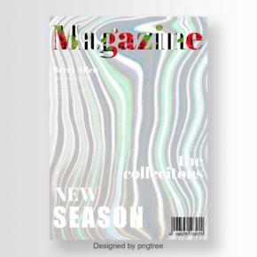 美丽的绘画杂志的时尚封面
