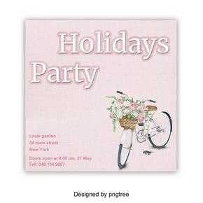 与假日党字体设计的美丽的海报