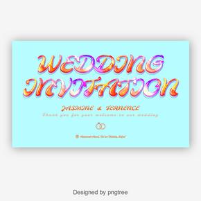 时尚weddding邀请与creativ字体