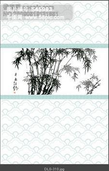 中国风 国画 竹子图片装饰设计免费下载 格式 psd 大小 3217X4724像