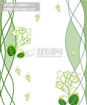 艺术线条花卉移门图案