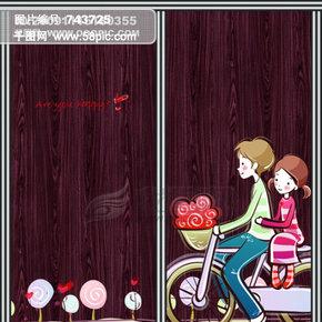 单车男女孩