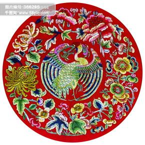 古龙 剪纸 绣花 民间艺术 中华刺绣 PSD分层素材源文件 中国传统元素整合图库