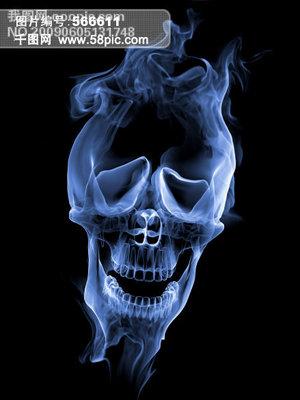烟雾骷髅头图片
