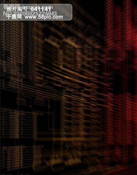 电子 科技 电路板 金融 背景 电器 统计图