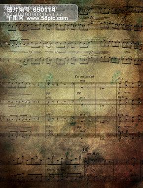 花千骨的口风琴歌谱-残旧的曲谱高清图片图片素材免费下载 格式 jpg 图片编号 12826181