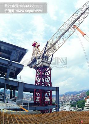 建筑营造 工地 建筑工人 建筑工地 建筑物 建筑钢材