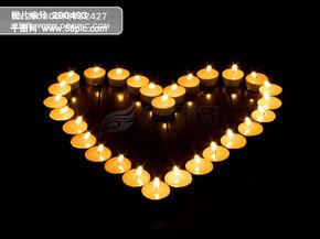 全球首席设计大百科 蜡烛 烛光 祈祷 祈望 红烛 烛光 烛光摇曳