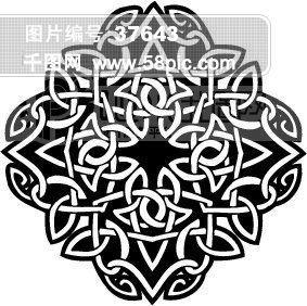 矢量欧美花纹元素 背景花纹 底纹花边 韩国花纹 欧式古典花纹 装饰花纹配饰