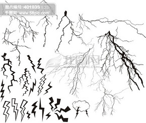 树根和雷电矢量图免费下载 格式 cdr 图片编号 604223 千图网