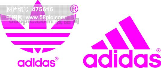 adidas三叶草标志 adidas矢量标志矢量图免费下载 千图网图片