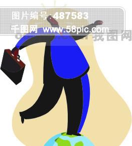 人物商业寓意插画29