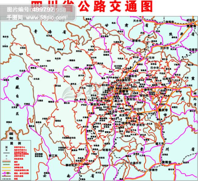 四川交通地图矢量图免费下载_格式:cdr(图片编号:49)
