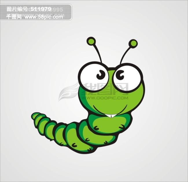 毛毛虫  卡通 虫子 昆虫