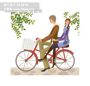 片免费下载 骑自行车卡通素材 骑自行车卡通模板 千图网图片