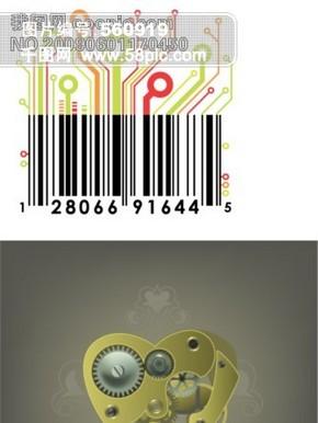 机械心电路板条码