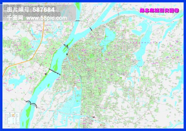 南昌市旅游交通-矢量地图