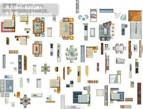 现代时尚室内设计矢量图 家具