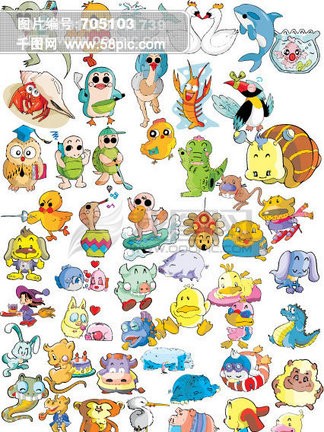 卡通动物<i>矢</i><i>量</i><i>图</i>