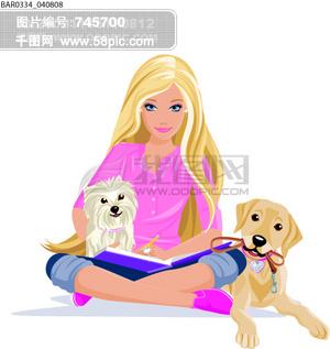 图片免费下载 芭比卡通素材 芭比卡通模板 千图网