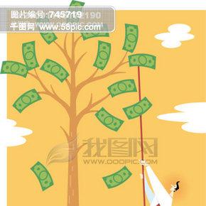 金融寓意插画001