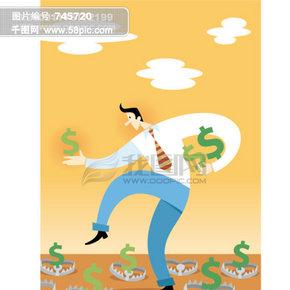 金融寓意插画002
