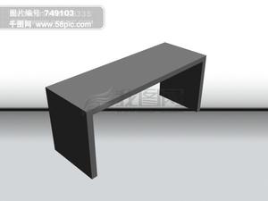 长条桌立体图