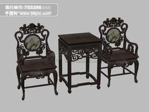 3d古典家具桌椅