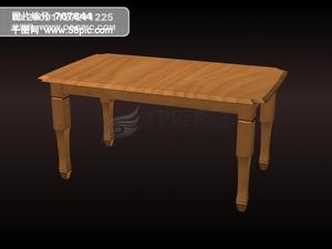 3d木质长条桌