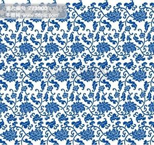 青花瓷 蓝色底纹