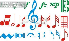 音乐符号  五线谱  CDR矢量图