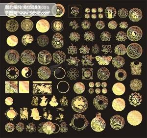 中国传统圆形花纹精品