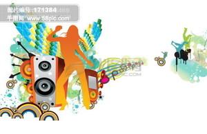 龙腾广告 平面广告PSD分层素材源文件 中国电信 移动 音乐 图案