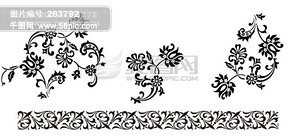 背景 底纹 花纹 黑白 边框 瓷器 背景 影骑 韩国实用设计分层源文件 PSD源文件