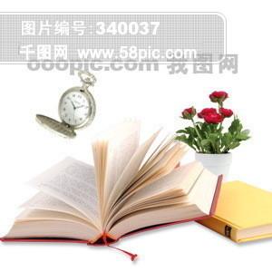 耳塞  书籍 笔记本 花 盆栽 报纸 手机 字典 PSD分层素材源文件 韩国花纹图库