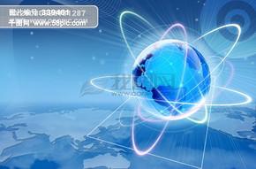 电子科技 球体 球状 地球仪 地球 环球光环 高楼建筑 楼房 psd分层素材源文件 09韩国设计元素