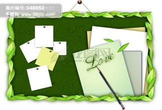 木纹 <i>树</i><i>叶</i> 笔 白纸 <i>写</i><i>字</i>板 <i>叶</i>子 花边 花纹 矢量分层素材源文件 韩国花纹图库