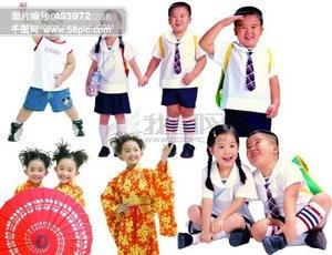 小学生 中学生 儿童 日本女孩 男孩 女孩 背书包 童真 人物 孩子 孩童 psd分层素材