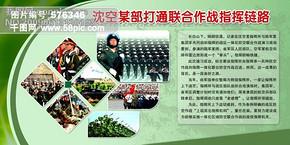 八一建军节部队展板PSD分层素材 部队阅兵方阵 军微 军旗 八一建军节素材 军队展板 展板设计