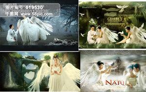 远古传说天使婚纱素材