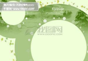 淡绿色背景设计素材